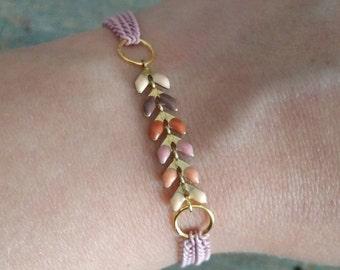 Old spike bracelet pink