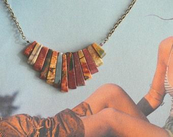 Jasper Fringe Necklace