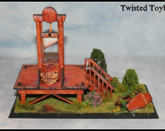 Miniature Guillotine Model Diorama Macabre Miniatures Collection French Revolution unusual gift