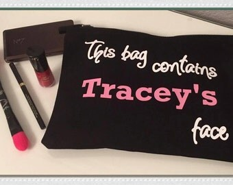 Personalised Make Up Bag, Female Gift, Birthday Gift, Christmas Gift, Stocking Filler