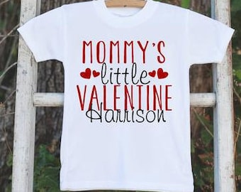 Kids Valentines Day Outfit - Mommy's Little Valentine Onepiece - Custom Valentine Shirt for Baby Girls or Boys - Mommy's Valentine Outfit