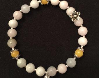 Jadeite Lotus pod bracelet