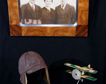 Leather Driving helmet / flying helmet / aviator helmet, distressed leather