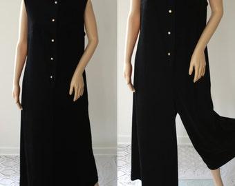 Comfy 70's Palazzo Pants Jumpsuit/Loungewear