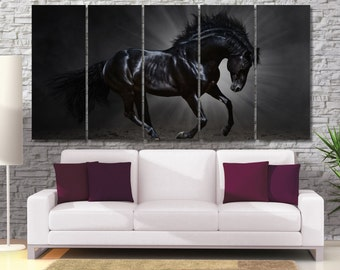Horse Wall Art Large, Nursery Prints Horse, Horse Lovers Canvas Print, Best Gift for Horse Lover, Horse Wall Art Decor, Canvas Horse Art