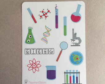 Science Decorative Stickers! [14 x Matte] Perfect for your planner or scrapbook!