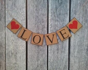 valentines banner, wedding decorations, wedding love banner, love banner, valentines sign, be my valentine, wedding decor, xoxo