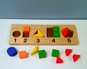 Learning Shapes Board, Educational Toy for 3 and up