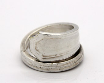 Spoon Ring - Size 10 - Hand Bent By The CrafsMan - Steady Craftin'