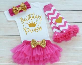 Baby Girl Birthday, Birthday Princess Bodysuit, Birthday Outfit Girl, Princess Birthday Outfit, 1st Birthday Outfit Girl, Cake Smash Shirt,