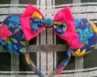 Minnie Mouse Ears Floral Summer Evening