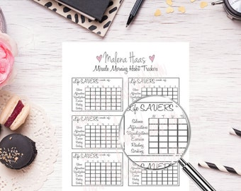 Miracle Morning Habit Tracker Stickers - Weekly Printables for Your Planner