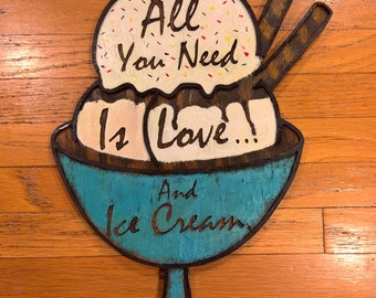 Custom Ice Cream Parlor Sign