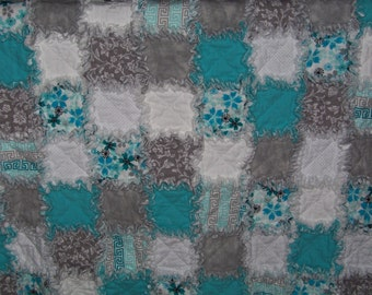 baby blanket , baby rag quilt, baby quilt, rag quilt, ready to ship, flannel baby blanket