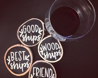 Wooden Chalk Coasters