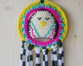 50% OFF CODE: DISCOSLOTH2554 Disco Penguin Crocheted Dreamcatcher
