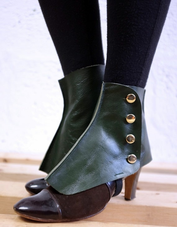 Real Leather Spats
