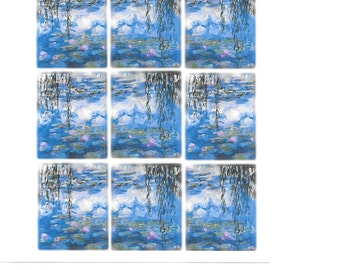 Planner Stickers of Waterlilies by Monet