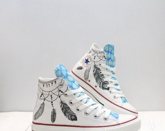 Dreamcatcher customized converse shoes ethnic style
