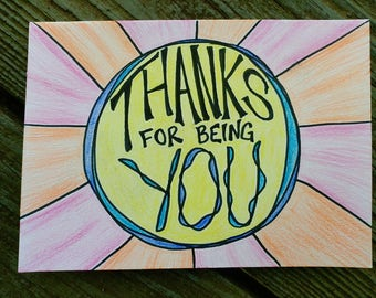 Thanks for Being You // Card
