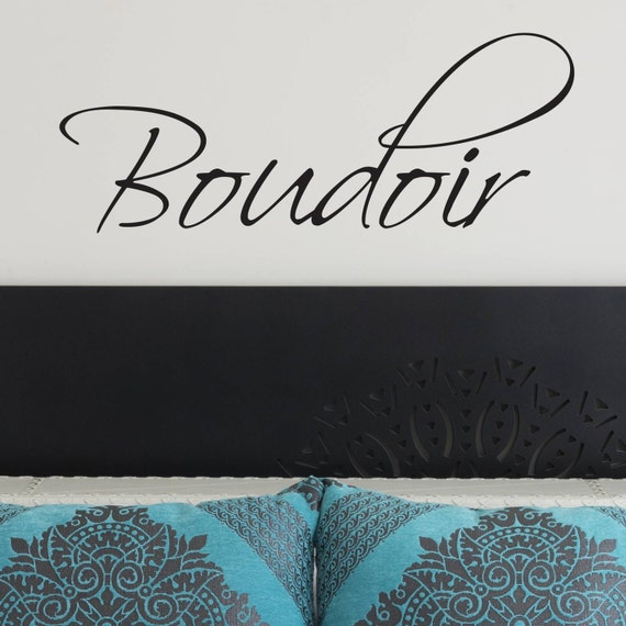 Bedroom decor - Bedroom Wall Decal - Boudoir Wall Decal - Wall Sticker - Bedroom Ideas