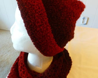 Crochet Burgundy Hat