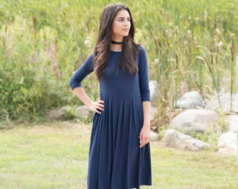 KMW Ladies Playdress, Midi Dress, Casual Dress, Modest Dress, Dress with pockets