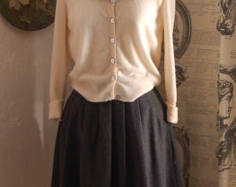 Cashmere cardigan size 14 Cream