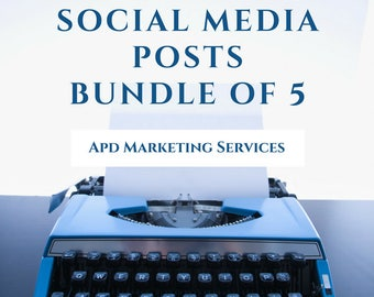 Social Media Content Bundle Creation of 5 Posts