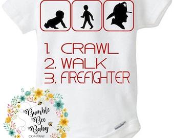Thin Red Line, Firefighter, Fire, Fire Babies, Infant, Baby Boy, Boy, Newborn, Bodysuit, T-Shirt, Birthday, Baby, Shower Gift