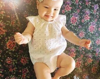 Baby, toddler, newborn, girls white, pink and grey flower lace headband accessories