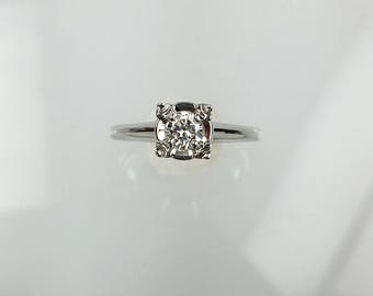 Vintage 1950's diamond solitaire engagement ring .20ct