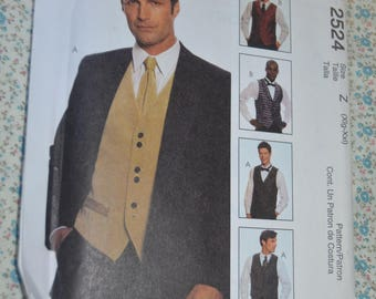 McCalls 2524 Mens Lined Vests , TIe and Bow Tie  Sewing Pattern - Size  Xlg - XXL