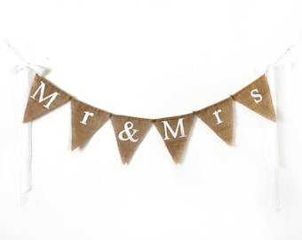Mr and Mrs Sign, Wedding Table Banner, Wedding Banner Decoration, Country Wedding Decor