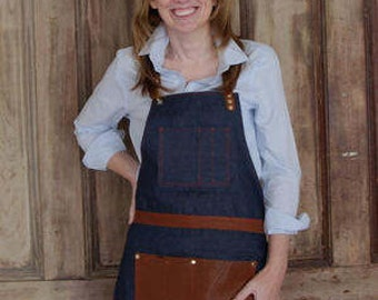 Makers Leather and Denim Apron