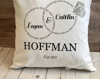 Personalized White Canvas Pillow Cover