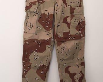 Desert storm / Military pants / camo pants / vintage military pants / combat pants / army pants / made in USA