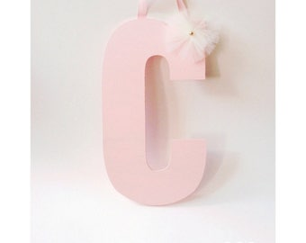 Painted Letters, Wooden Letters, Pink Letters, Nursery Decor