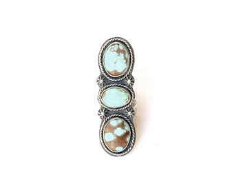 N. 8 Mine Turquoise Ring, Size 6.5, One of a kind