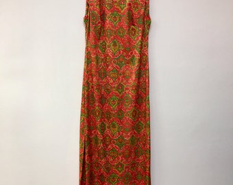 Emilio Borghese vintage 1960's op art mod psychedelic maxi DRESS