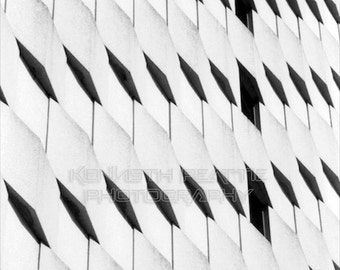 Modern black and white architectural photography. Charlotte print #7.