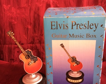 Elvis Presley Guitar Music Box