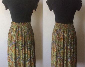 1940s Black and Paisley Dress