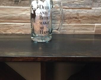 Deer and Beer Make me Happy Beer Mug