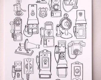 Telephone Print