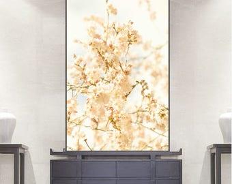Cherry Blossom print floral decor, botanical print, flower still life, floral wall art, large wall art print, sakura spring print