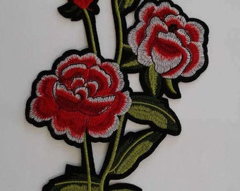 Iron-on flower patch applique
