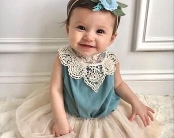 Blue baby headband, rose flower headband, rose felt headband, baby felt headband, baby girl headband, blue bloom, felt crown, blue flower
