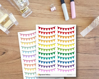 Bunting Stickers || Planner Stickers