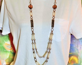 Vintage Layered Bead Necklace